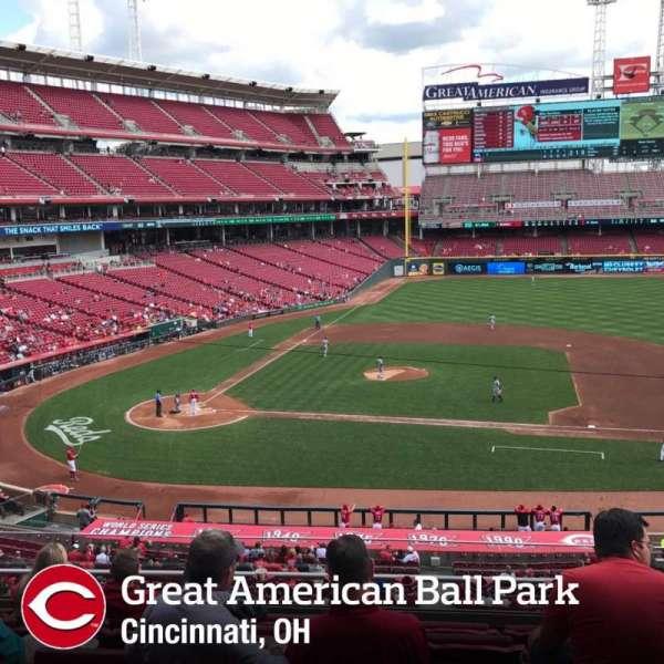 Great American Ball Park, secção: 302, fila: F, lugar: 9