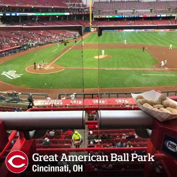 Great American Ball Park, secção: 301, fila: A, lugar: 2
