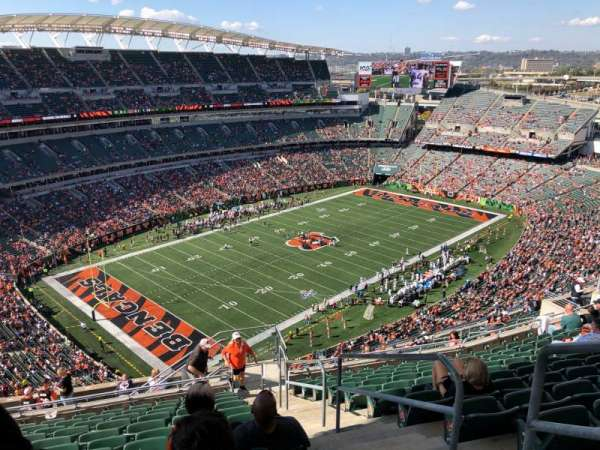 Paul Brown Stadium, secção: 347, fila: 24, lugar: 1
