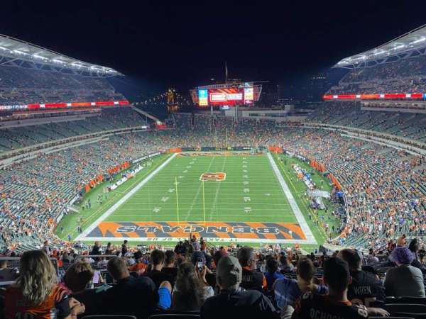 Paul Brown Stadium, secção: 224, fila: 36, lugar: 24