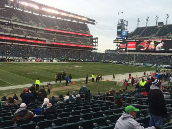 Lincoln Financial Field, secção: 116, fila: 14, lugar: 12