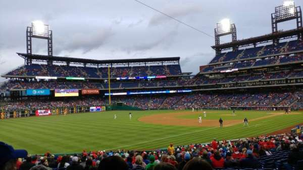Citizens Bank Park, secção: 137, fila: 35, lugar: 10