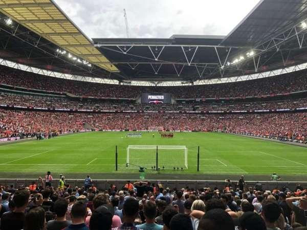 Wembley Stadium, secção: 134, fila: 21, lugar: 1