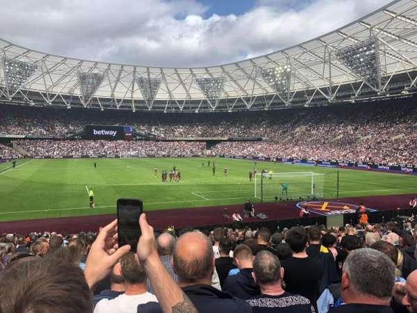 London Stadium, secção: 118, fila: 20, lugar: 88