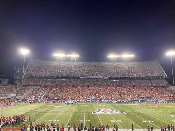 Arizona Stadium, secção: 22, fila: 31, lugar: 1