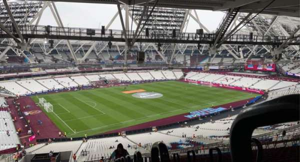 London Stadium, secção: 231, fila: 70, lugar: 590