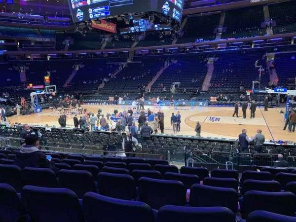 Madison Square Garden, secção: 118, fila: 11, lugar: 12