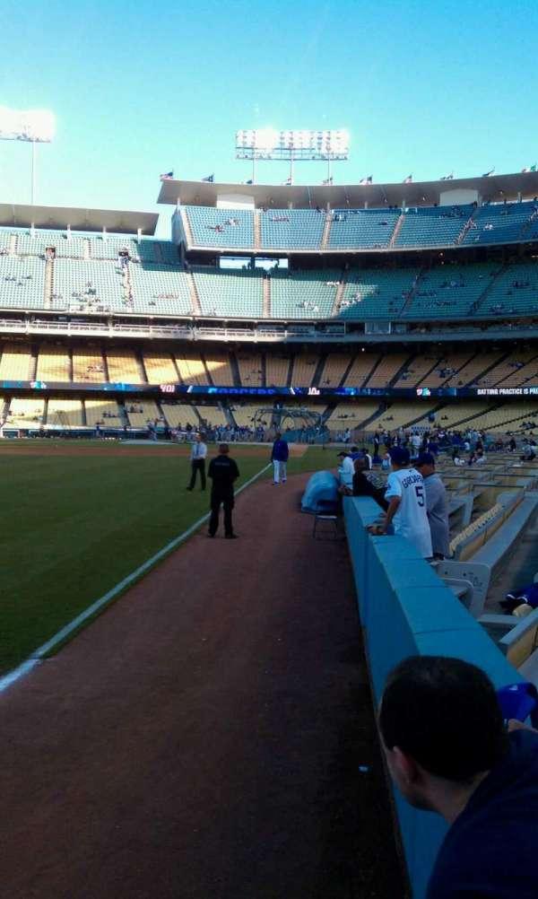 Dodger Stadium, secção: 49FD, fila: AA, lugar: 1