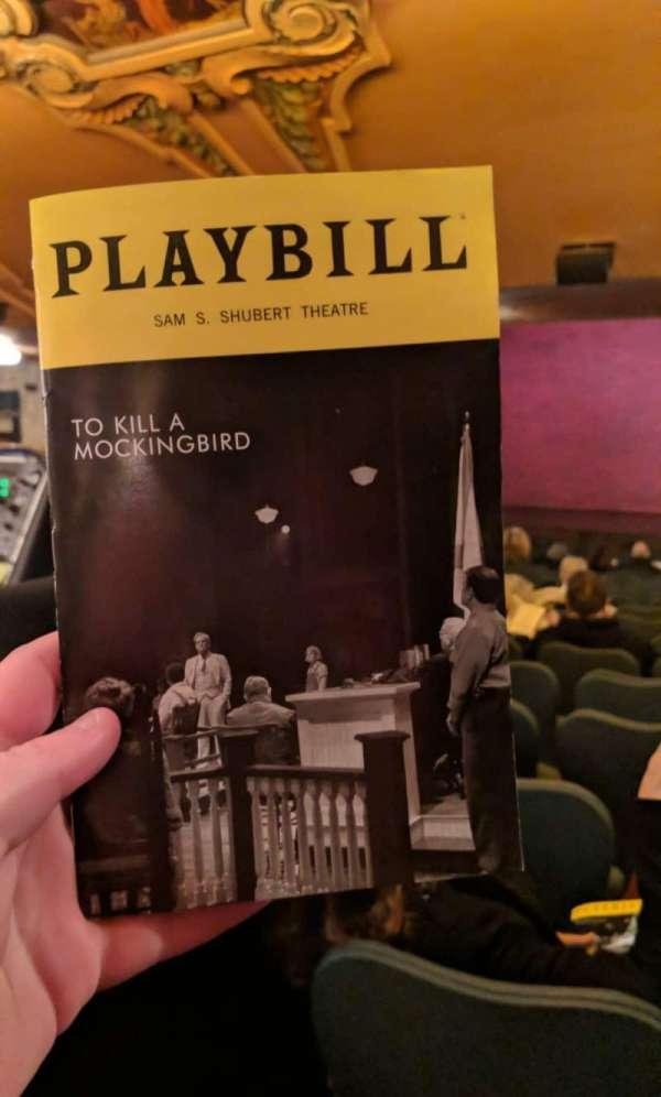 Shubert Theatre, secção: SR, lugar: 105