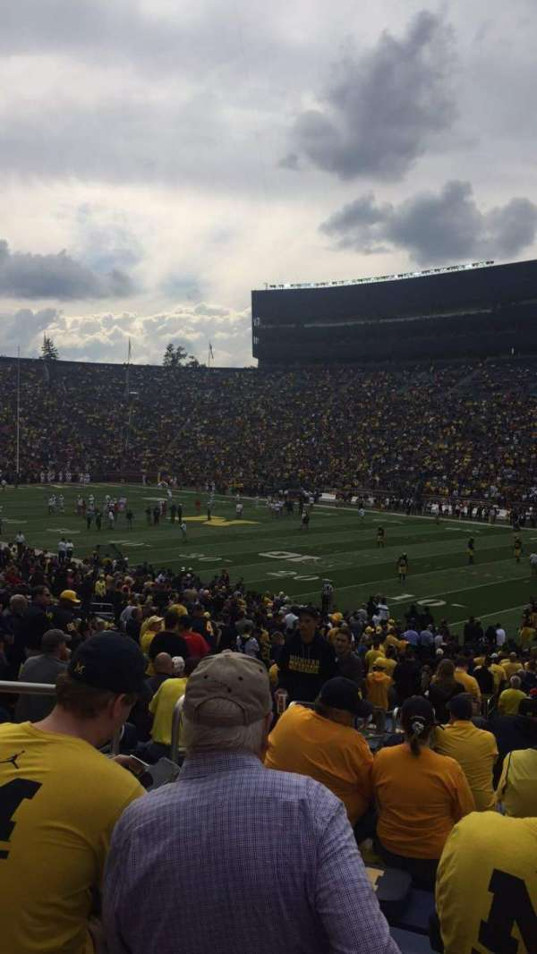 Michigan Stadium, secção: 40, fila: 36, lugar: 14