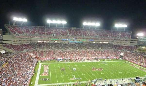 Raymond James Stadium, secção: 332, fila: M, lugar: 8