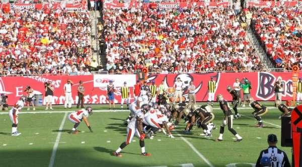 Raymond James Stadium, secção: 107, fila: G, lugar: 22