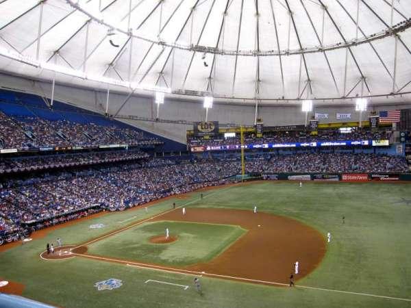Tropicana Field, secção: 316, fila: 1, lugar: 5