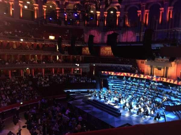 Royal Albert Hall, secção: Second tier 64, lugar: 1 and 2