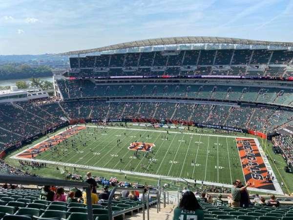 Paul Brown Stadium, secção: 337, fila: 27, lugar: 24