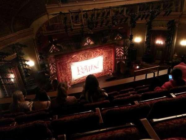 St. James Theatre, secção: Balcony L, fila: F, lugar: 13