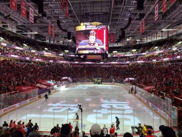PNC Arena, secção: 126, fila: s, lugar: 9
