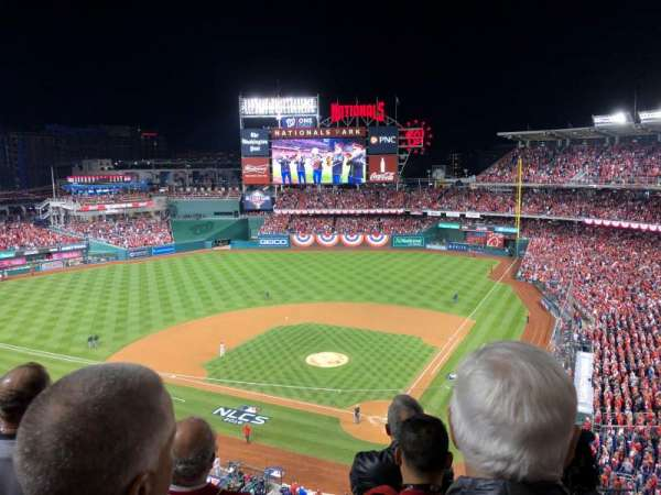 Nationals Park, secção: 311, fila: D, lugar: 1