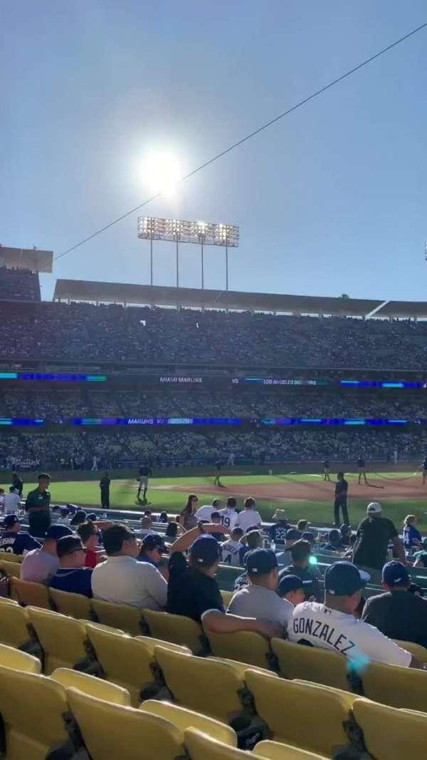 Dodger Stadium, secção: 36FD, fila: G, lugar: 1