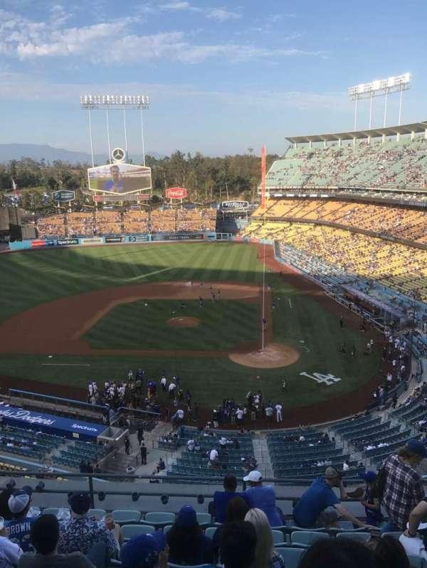 Dodger Stadium, secção: 9RS, fila: L, lugar: 6