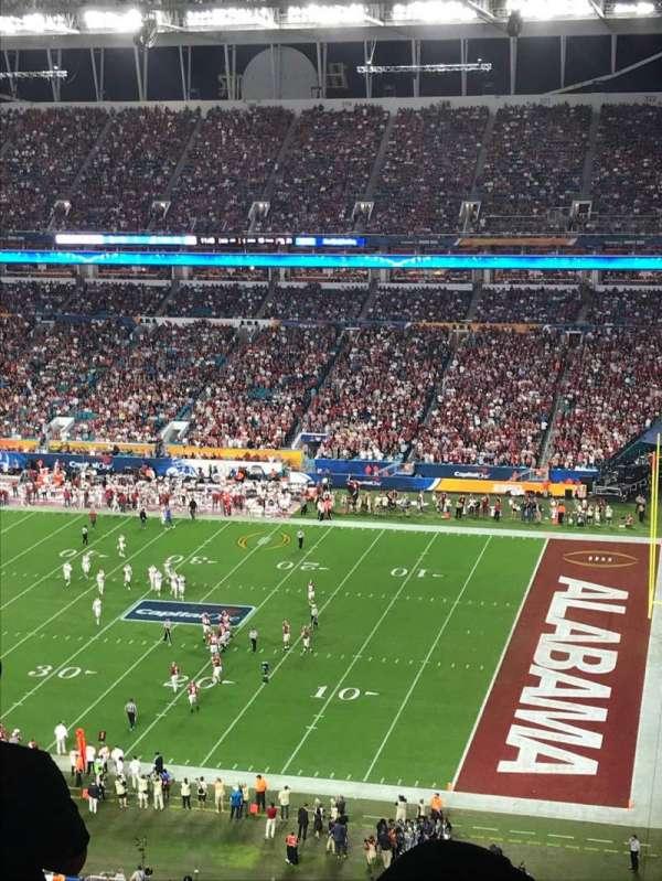 Hard Rock Stadium, secção: 343, fila: 23, lugar: 1