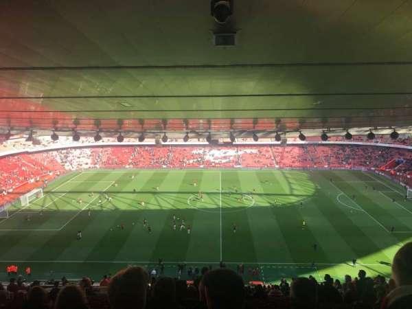Emirates Stadium, secção: 91, fila: 31, lugar: 1