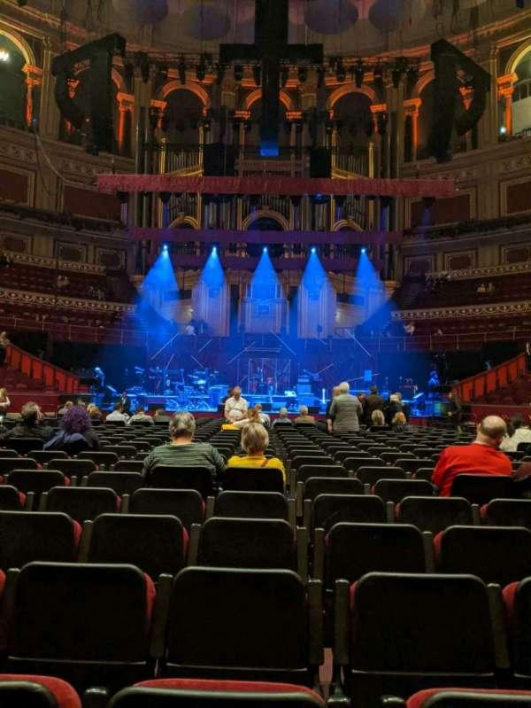 Royal Albert Hall, secção: C, fila: 25, lugar: 18
