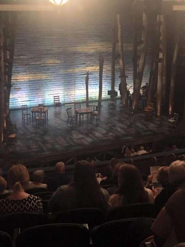 Gerald Schoenfeld Theatre, secção: Mezzanine R, fila: K, lugar: 17