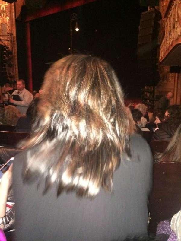Longacre Theatre, secção: Orchestra R, fila: O, lugar: 17