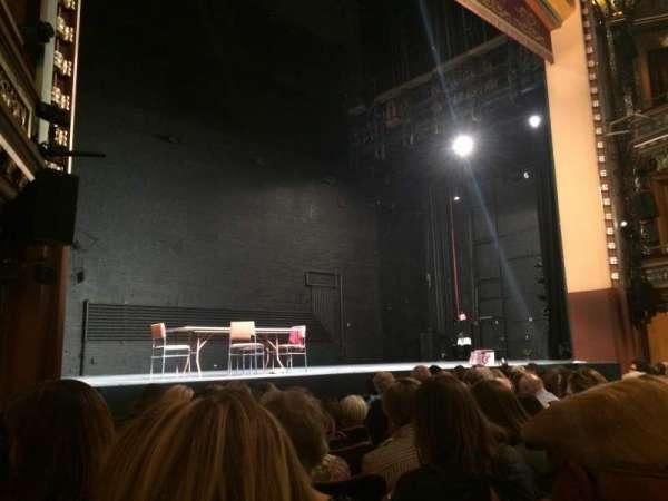 Belasco Theatre, secção: Orchestra L, fila: G, lugar: 11