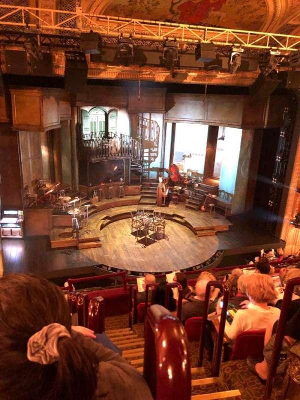 Walter Kerr Theatre, secção: Mezz, fila: G, lugar: 1