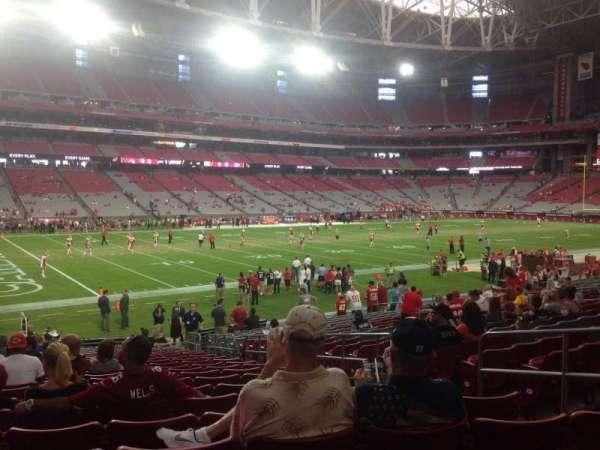 State Farm Stadium, secção: 134, fila: 21, lugar: 8
