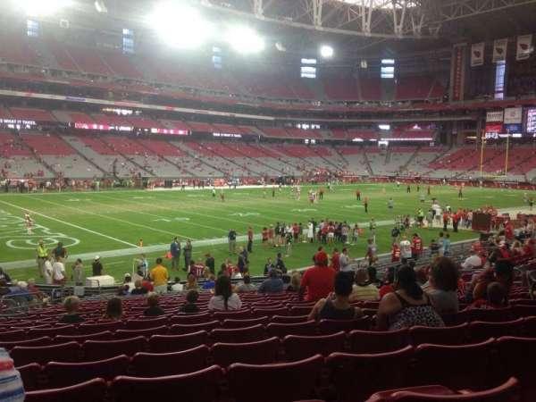 State Farm Stadium, secção: 135, fila: 21, lugar: 18
