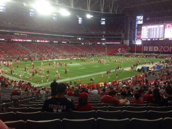 State Farm Stadium, secção: 114, fila: 31, lugar: 27