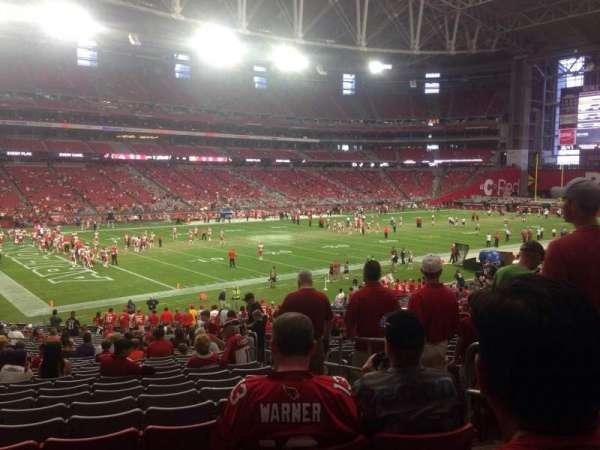 State Farm Stadium, secção: 114, fila: 32, lugar: 3