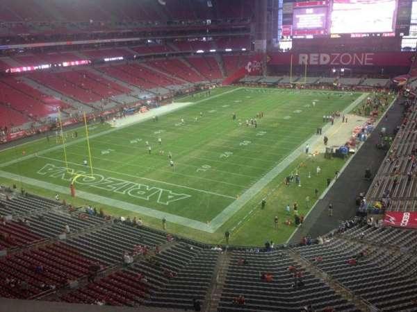 State Farm Stadium, secção: 424, fila: A, lugar: 1