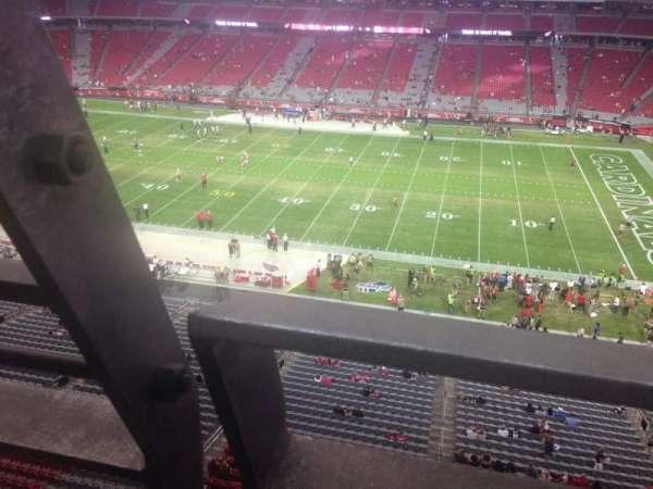 State Farm Stadium, secção: 409, fila: A, lugar: 18