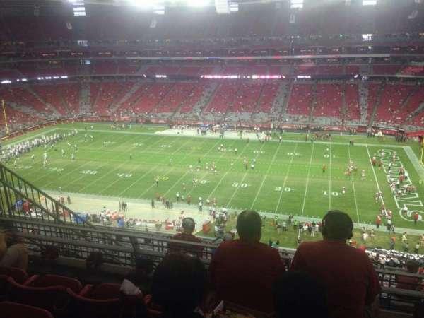 State Farm Stadium, secção: 409, fila: 4, lugar: 9