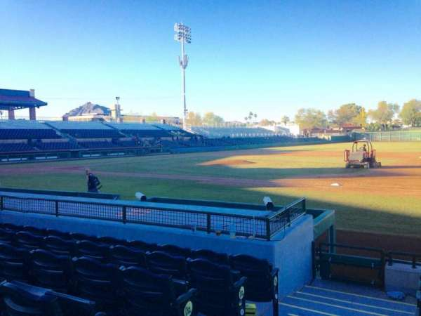 Scottsdale Stadium, secção: 118, fila: H, lugar: 1