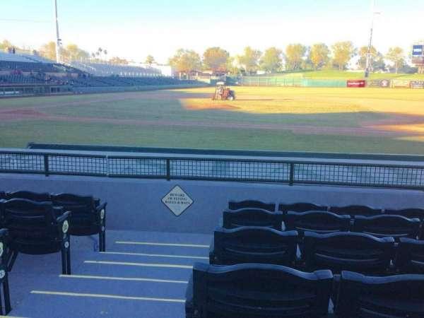 Scottsdale Stadium, secção: 114, fila: H, lugar: 1