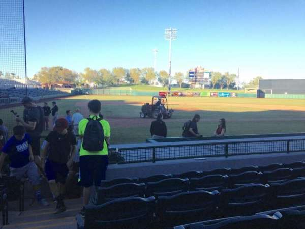 Scottsdale Stadium, secção: 108, fila: H, lugar: 1