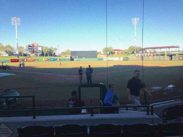 Scottsdale Stadium, secção: 102, fila: WC, lugar: 3
