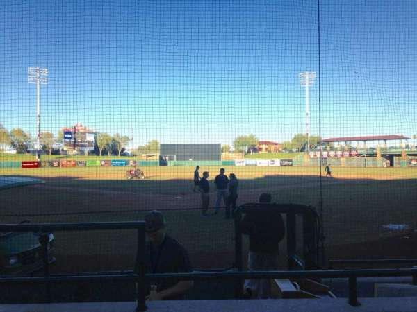 Scottsdale Stadium, secção: 102, fila: F, lugar: 1