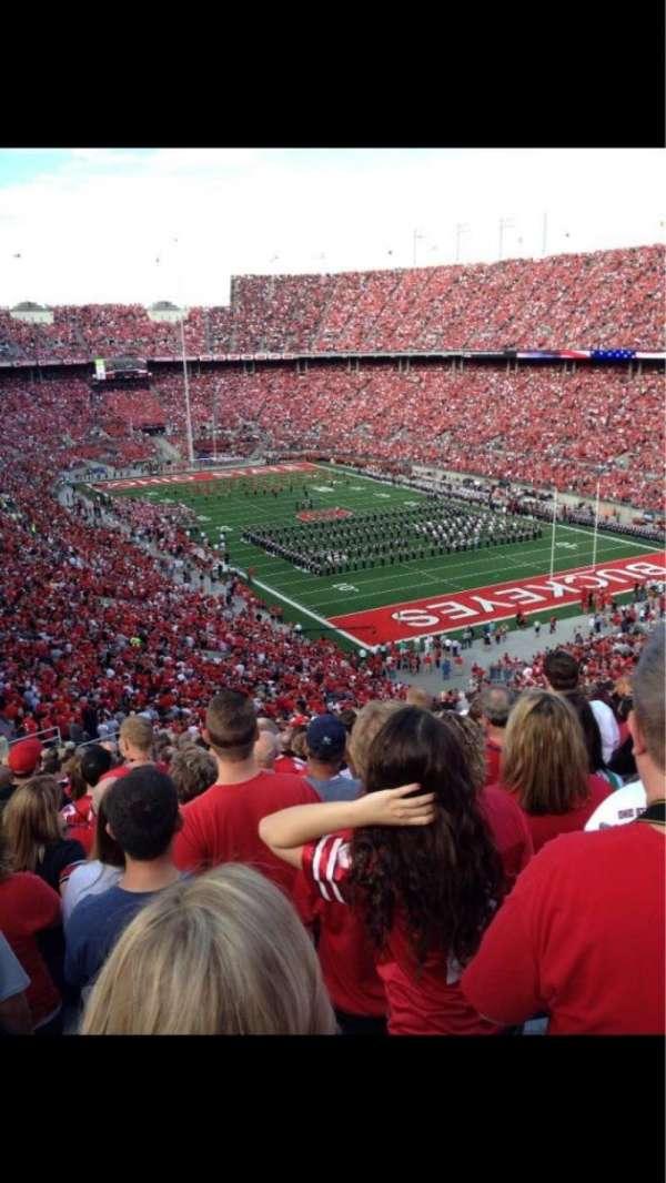 Ohio Stadium, secção: 31b, fila: 15, lugar: 17