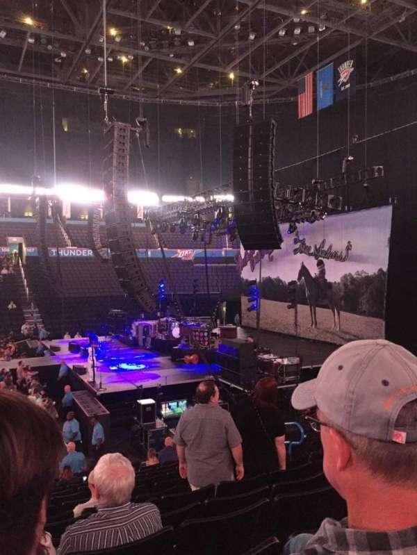 Chesapeake Energy Arena, secção: 115, fila: P, lugar: 9