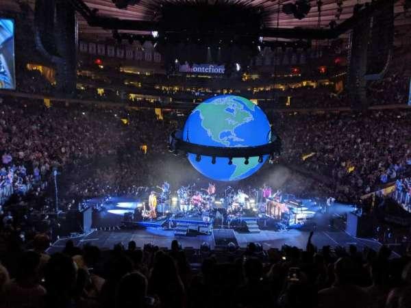 Madison Square Garden, secção: 112, fila: 16, lugar: 8