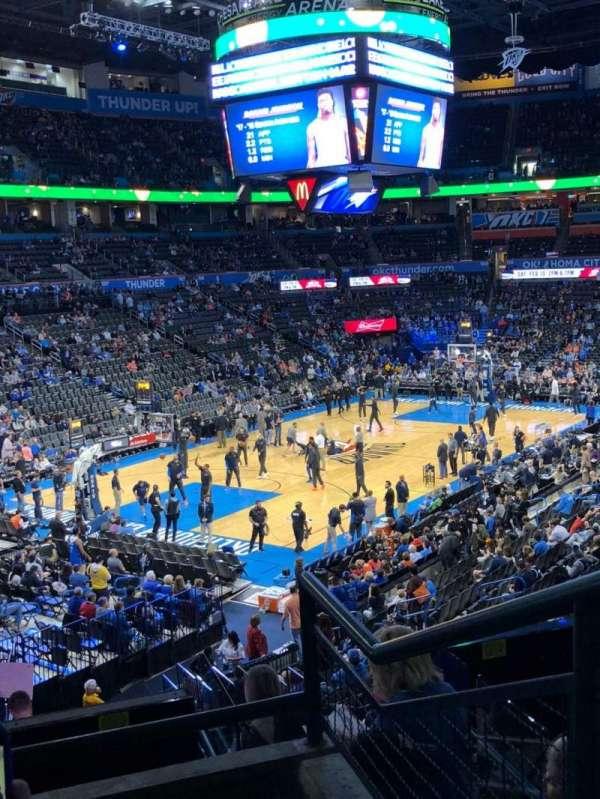 Chesapeake Energy Arena, secção: 227, fila: C, lugar: 10