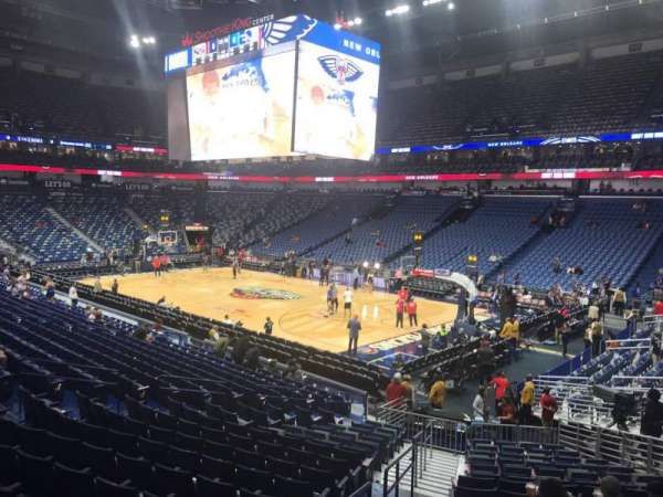 Smoothie King Center, secção: 121, fila: 22, lugar: 19