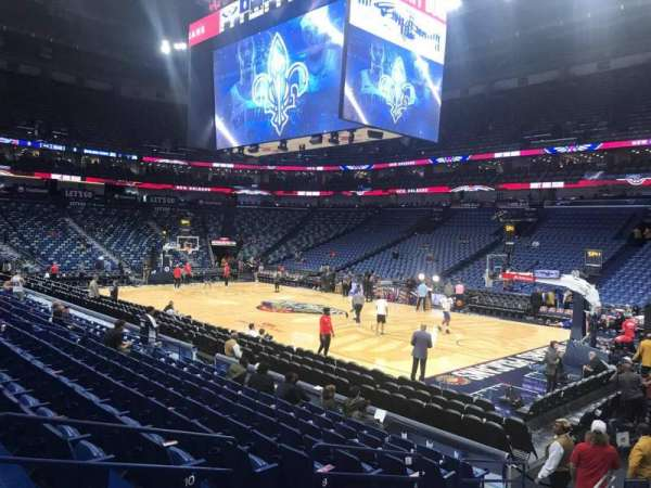 Smoothie King Center, secção: 122, fila: 14, lugar: 4