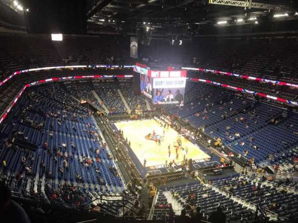 Smoothie King Center, secção: 326, fila: 13, lugar: 18